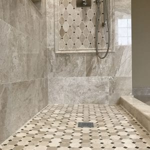 Modern shower installation Schaumburg