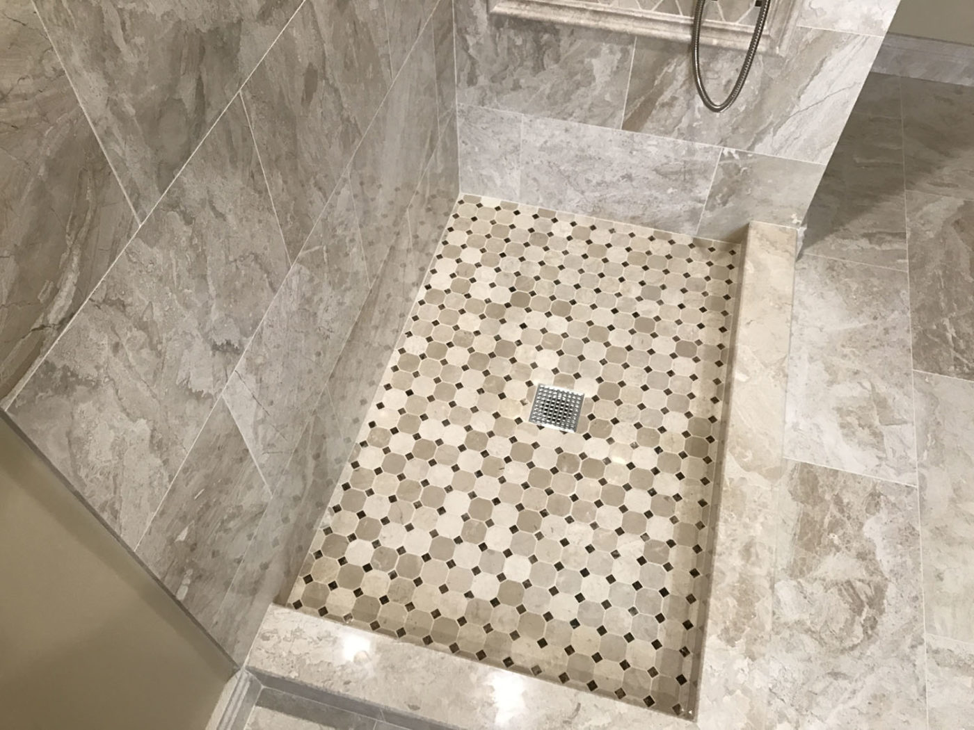 Bathroom contracting Schaumburg new shower and stone tile