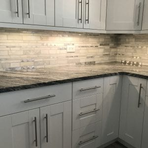 Kitchen Remodeling Schaumburg new backsplash, cabinets, granite countertops