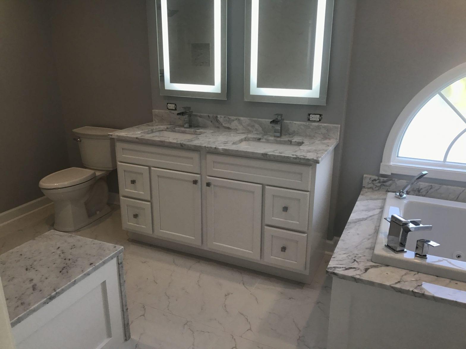 Bathroom Remodeling In Hoffman Estates - granite countertops and tub