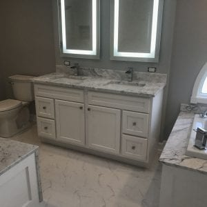 Bathroom Remodeling In Hoffman Estates - granite countertops and tub