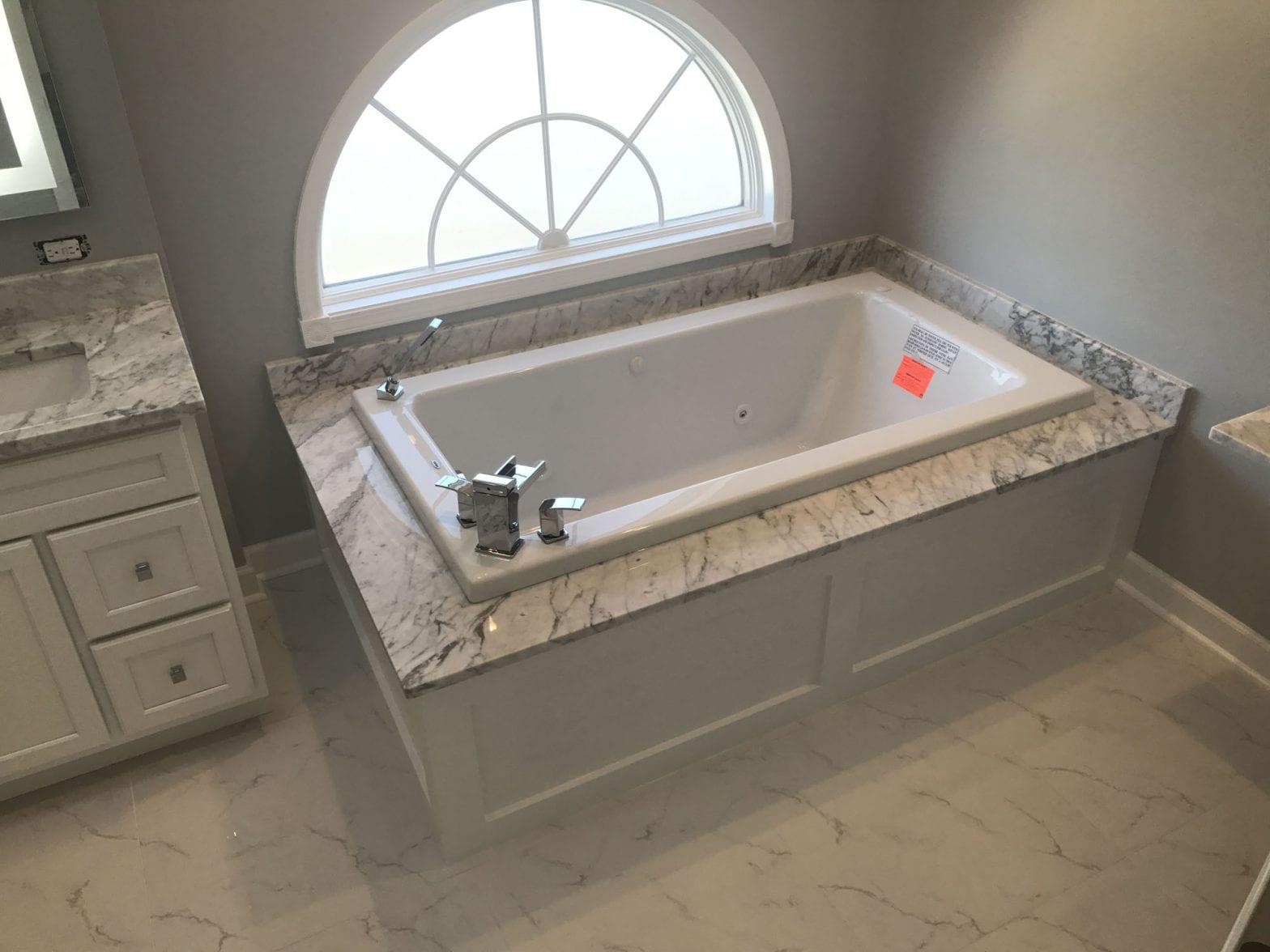 Bathroom Remodeling In Hoffman Estates - granite tub and countertops