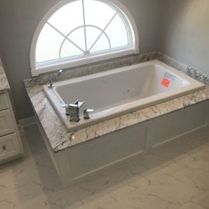 Bathroom Remodeling In Hoffman Estates - granite tub and countertops