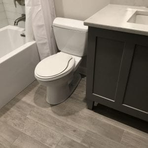 Bathroom Remodeling In Morton Grove - new flooring and cabinets
