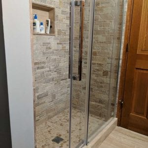 Bathroom Remodeling Hoffman Estates - natural stone shower tile