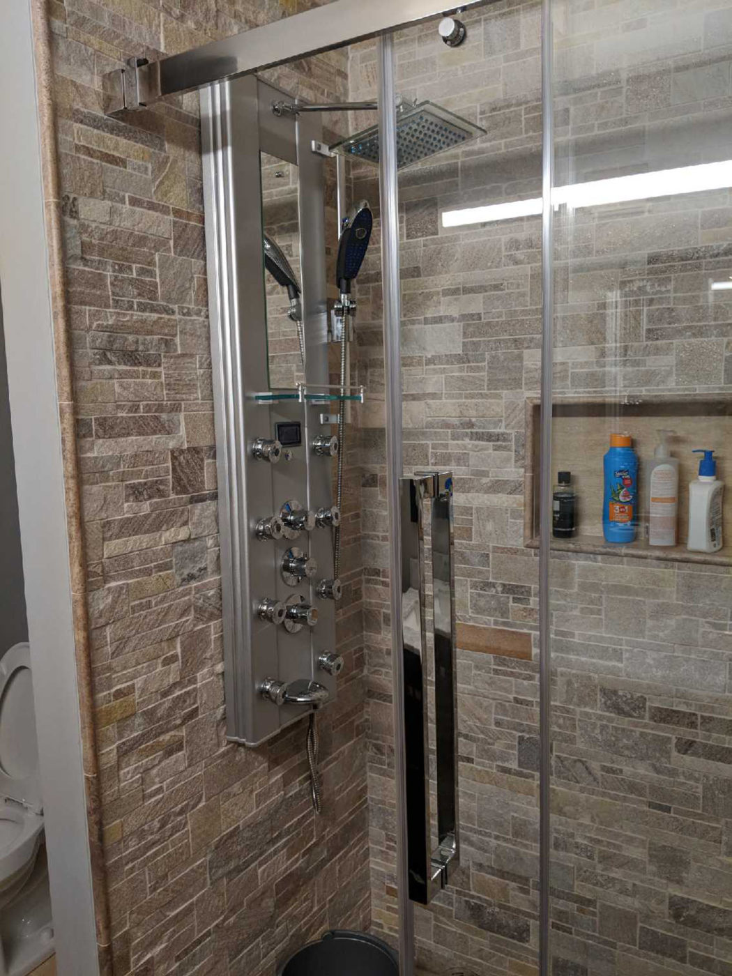 Bathroom Remodeling Hoffman Estates - stone shower tile
