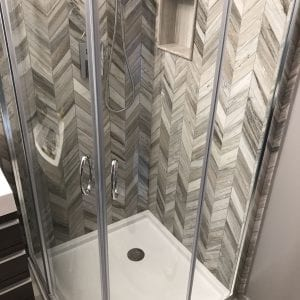 Hoffman Estates Powder Room shower remodeling