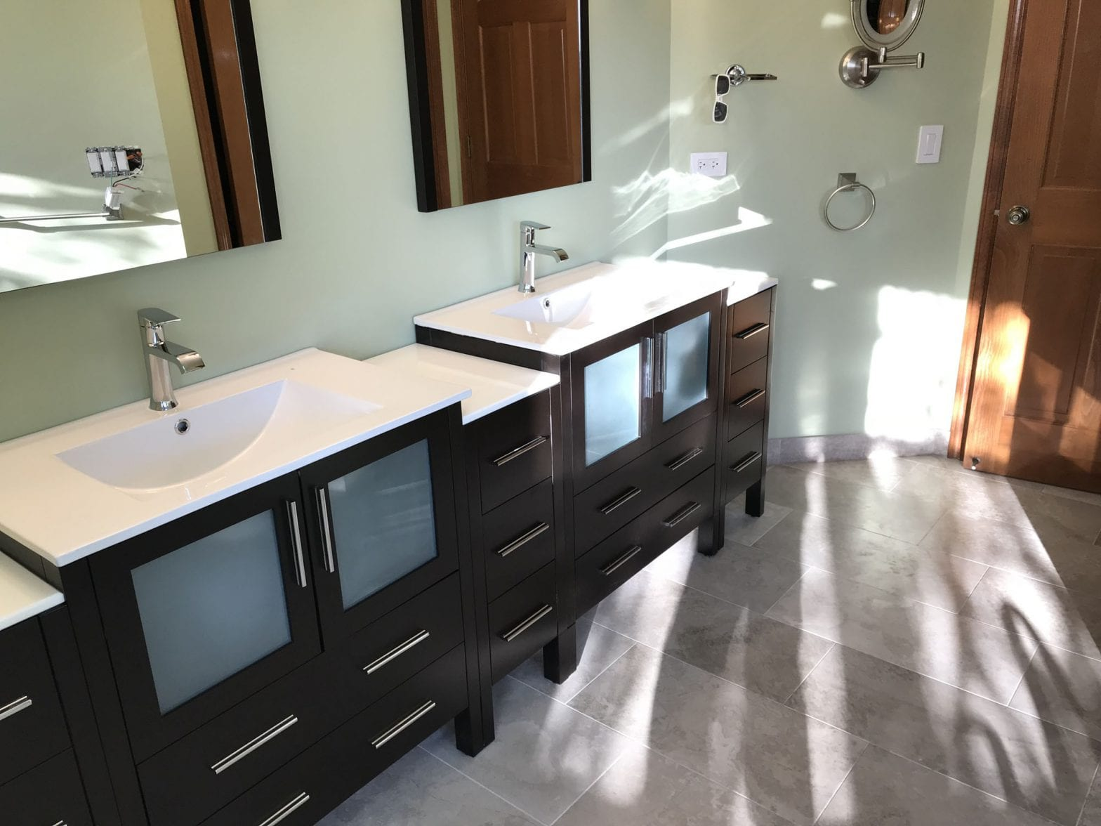 Master Bathroom Remodeling In Hoffman Estates - new cabinets and countertops