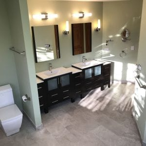 Master Bathroom Remodeling In Hoffman Estates - new flooring