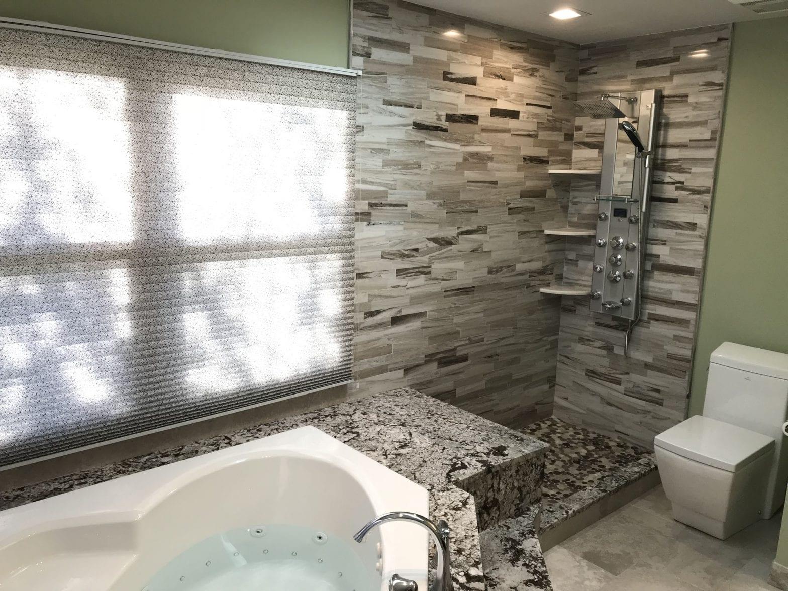 Master Bathroom Remodeling In Hoffman Estates - granite countertops modern shower