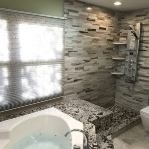 Master Bathroom Remodeling In Hoffman Estates - granite countertops modern shower