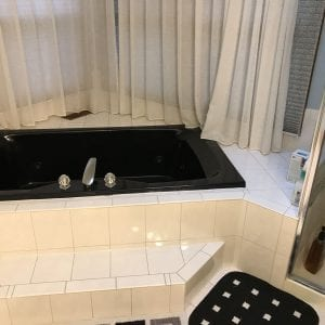 Master Bathroom Remodeling In Hoffman Estates - black and white new tub