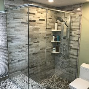 Master Bathroom Remodeling In Hoffman Estates - new modern looking shower