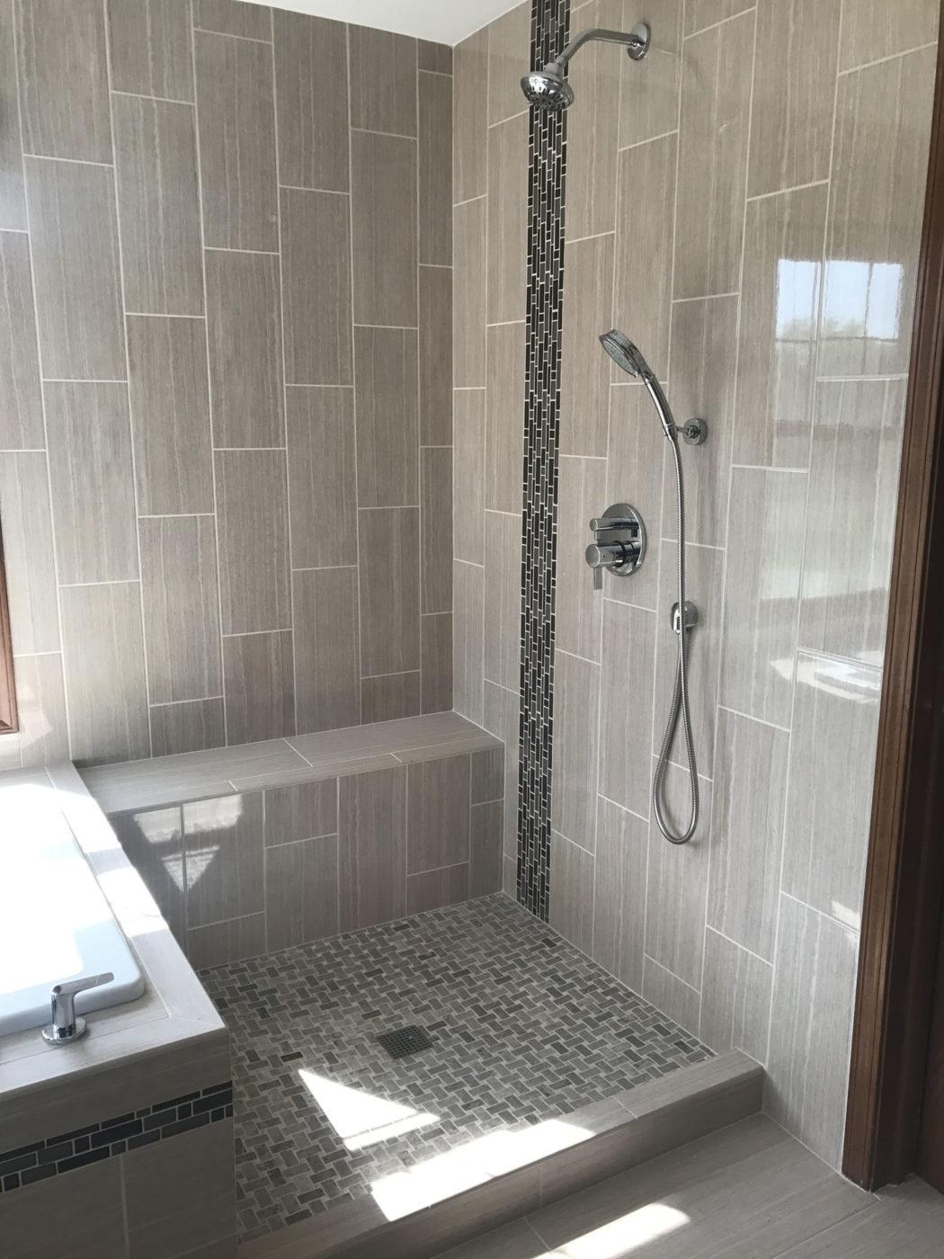 Master Bathroom Remodeling Schaumburg - new shower
