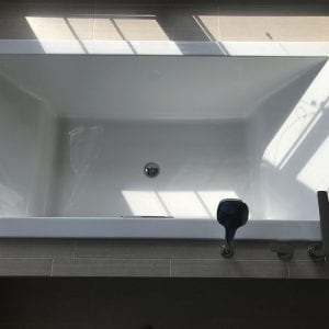 Master Bathroom Remodeling Schaumburg - new tub