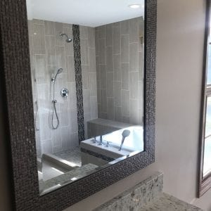 Master Bathroom Remodeling Schaumburg - new mirror