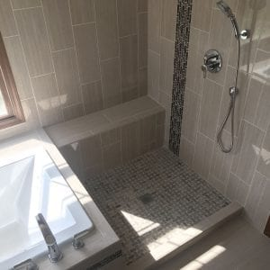 Master Bathroom Remodeling Schaumburg - new shower