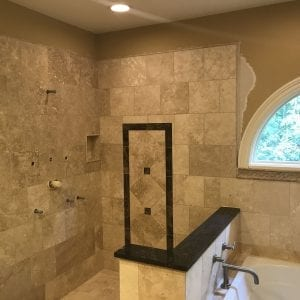 Shower Remodeling Schaumburg - adding new tile
