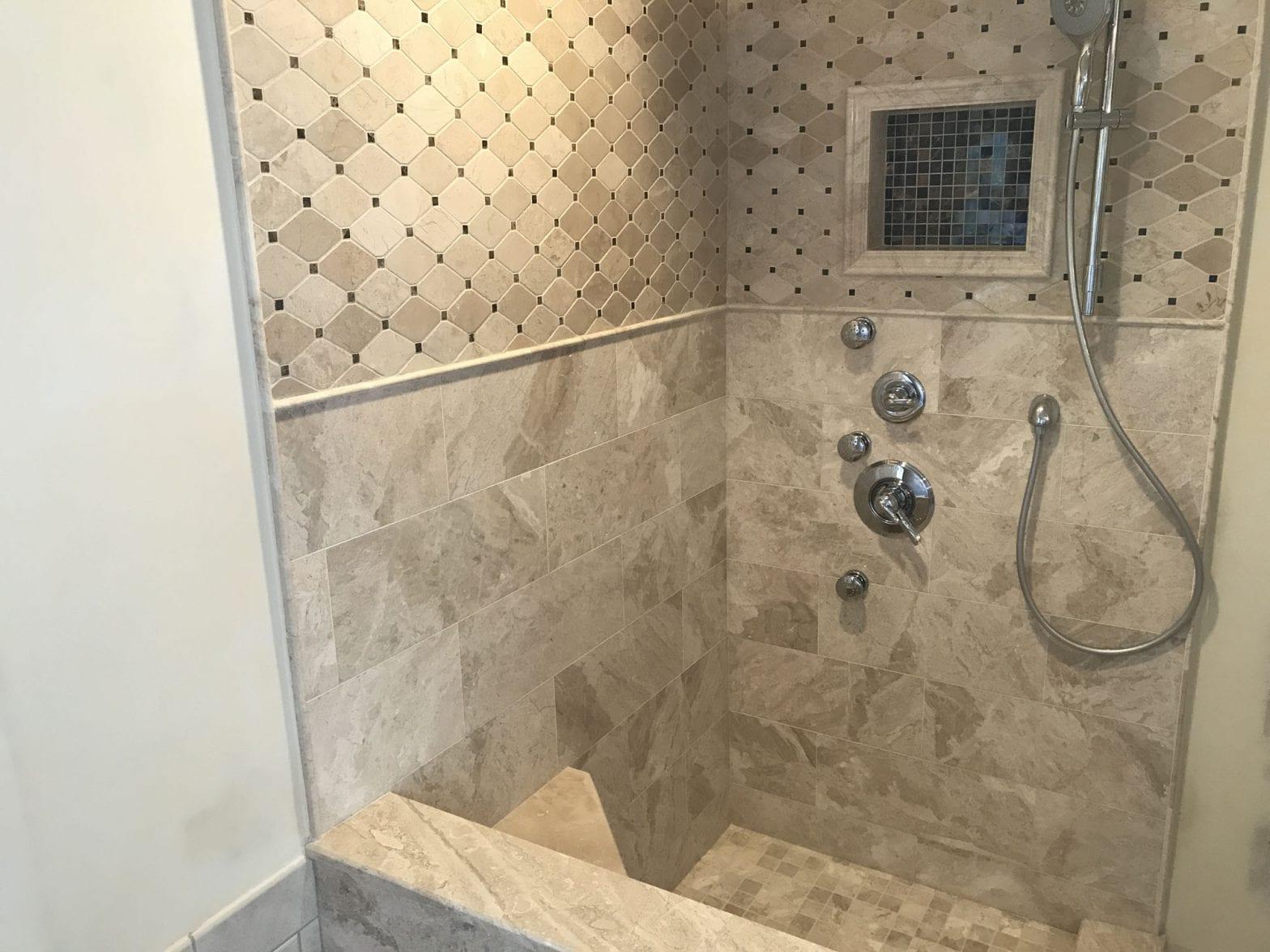 Shower Remodeling in Barrington IL - new tile
