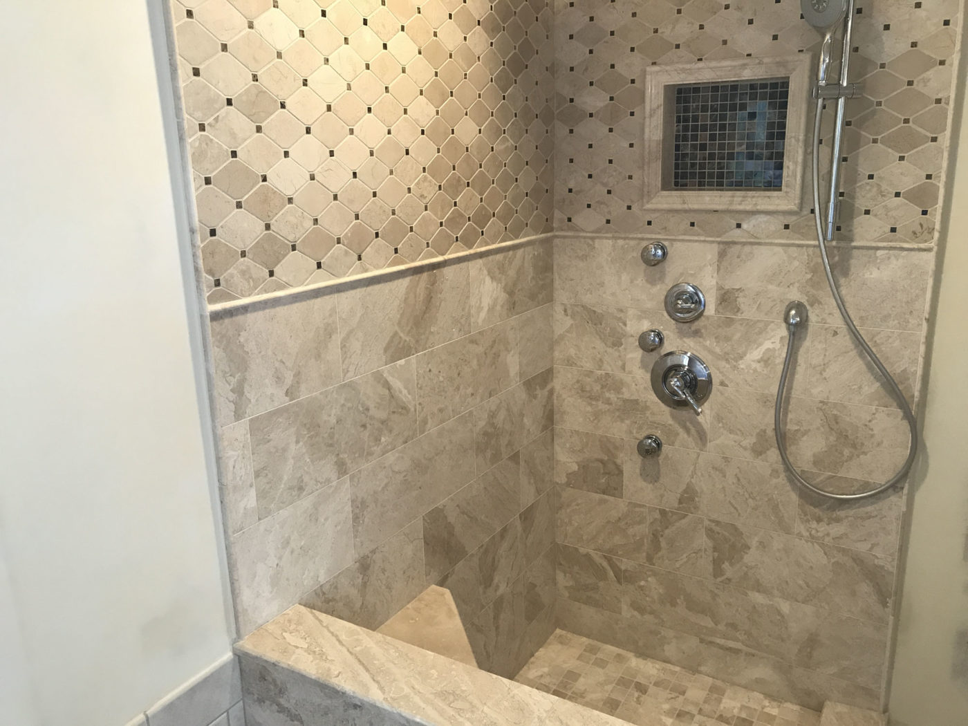 Shower Remodeling in Barrington IL - new tile