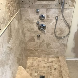 Shower Remodeling in Barrington - new tile