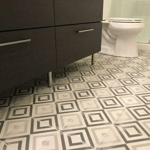 Commercial Property Bathroom remodeling in Streamwood IL - new flooring, tile, cabinets