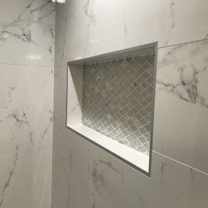 Master Bathroom Remodeling in Morton Grove - new shower, tile