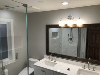 Master Bathroom Remodeling in Morton Grove - new countertops and mirror