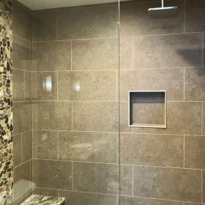 Bathroom Remodeling in South Barrington - new shower tile
