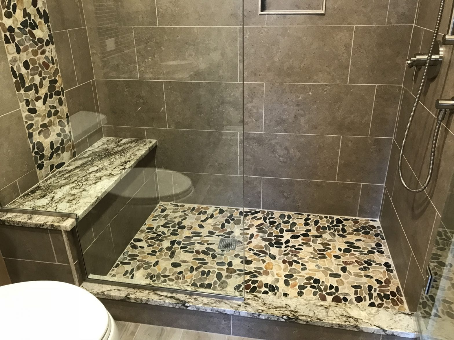 Bathroom Remodeling in South Barrington - new shower tile, aggragate