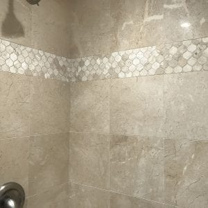 Bathroom remodeling in East Dundee - new shower, tile