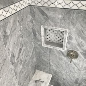 Bathroom remodeling in East Dundee - new shower and tile