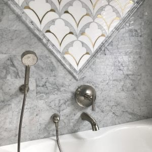 Master bathroom remodeling in Hoffman Estates - granite tiles
