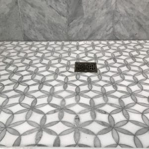Master bathroom remodeling in Hoffman Estates - new shower base and tile