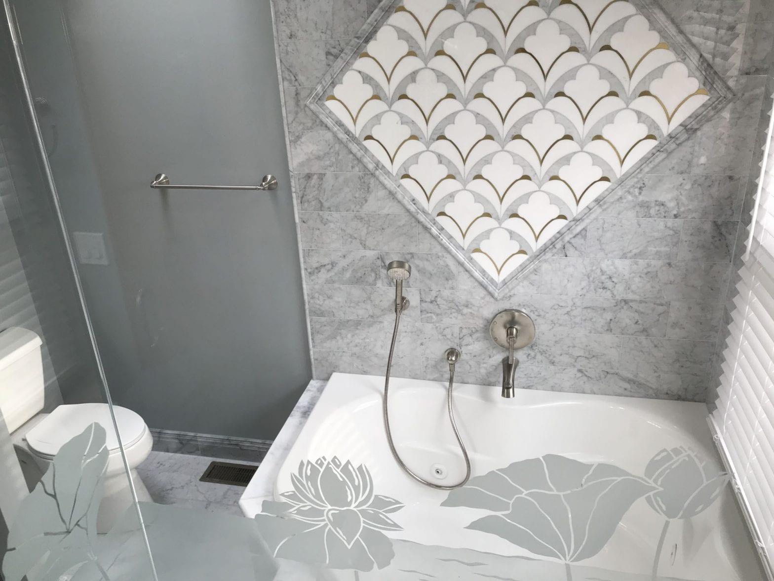 Master bathroom remodeling in Hoffman Estates - new tile and shower