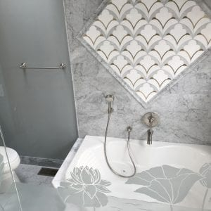 Master bathroom remodeling in Hoffman Estates - new tile and shower