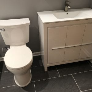 Bathroom remodeling in Schaumburg - new flooring and sink