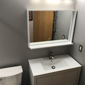 Bathroom remodeling in Schaumburg - new sink, paint, vanity mirror