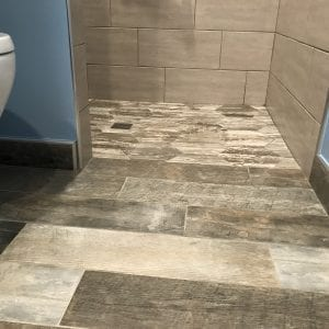 Bathroom remodeling in Bartlett IL - new flooring and tile