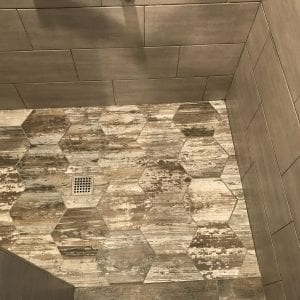 Bathroom remodeling in Bartlett IL - new tile, new shower
