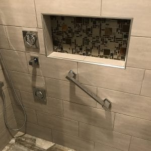 Bathroom remodeling in Bartlett IL - new walk in shower and tile