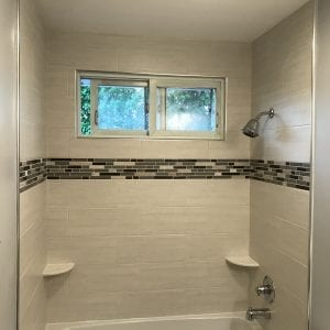 Bathroom remodeling in Hanover Park - new tub and shower, tiles