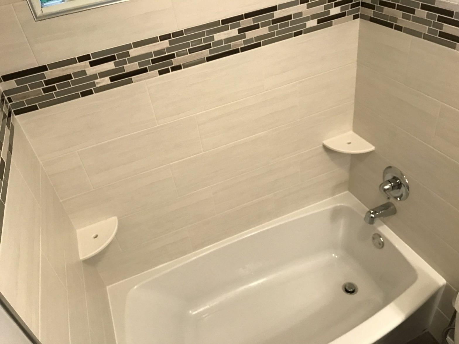 Bathroom remodeling in Hanover Park - new tile, tub