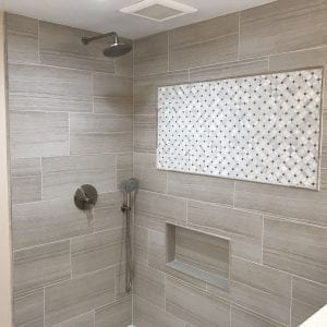 Bathroom remodeling in Hoffman Estates - new shower and tile