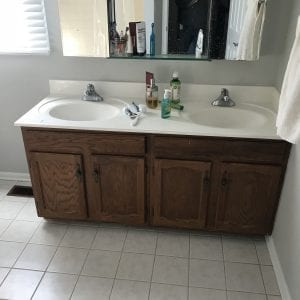 Bathroom remodeling in Schaumburg - new flooring, sinks, cabinets