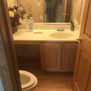 Master bathroom remodeling in Hoffman Estates - new sink and cabinets