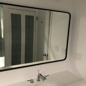 new bathroom mirror and sink