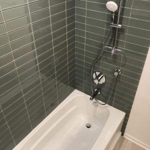 new bathtub and tile