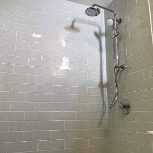 new shower and tile