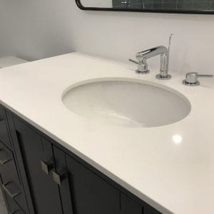 new bathroom sink and cabinets